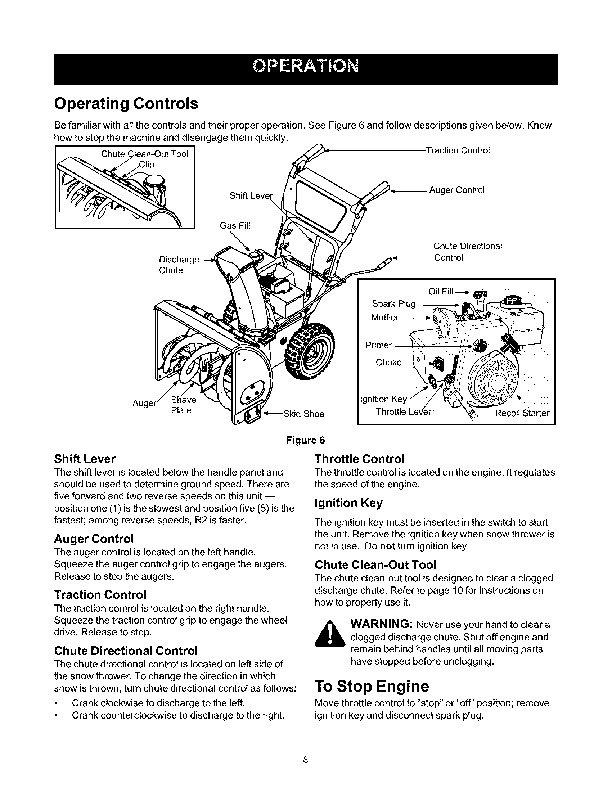 Craftsman 247.886640 24-Inch Snow Blower Owners Manual