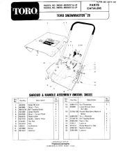 Toro 38030 Snow Master 20 Manual, 1978