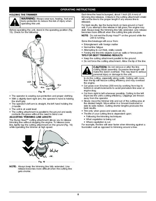 MTD Troy-Bilt TB525ET Trimmer Lawn Mower Owners Manual