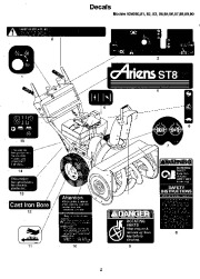 Ariens Sno Thro 924 Series Snow Blower Parts Manual
