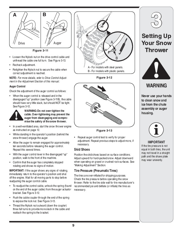 MTD Gold 769-04179 Snow Blower Owners Manual