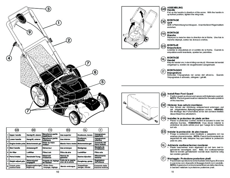 McCulloch M53 675 DWA 3IN1 Lawn Mower Owners Manual, 2009
