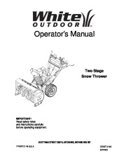 White Outdoor Snow Blower Manuals