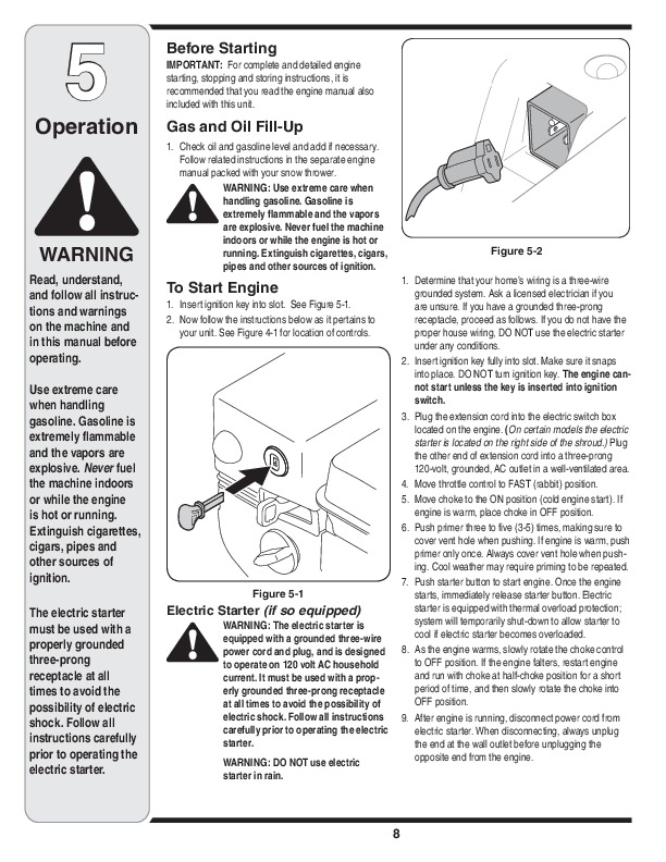 MTD 2N1 2P5 Single Stage Snow Blower Owners Manual