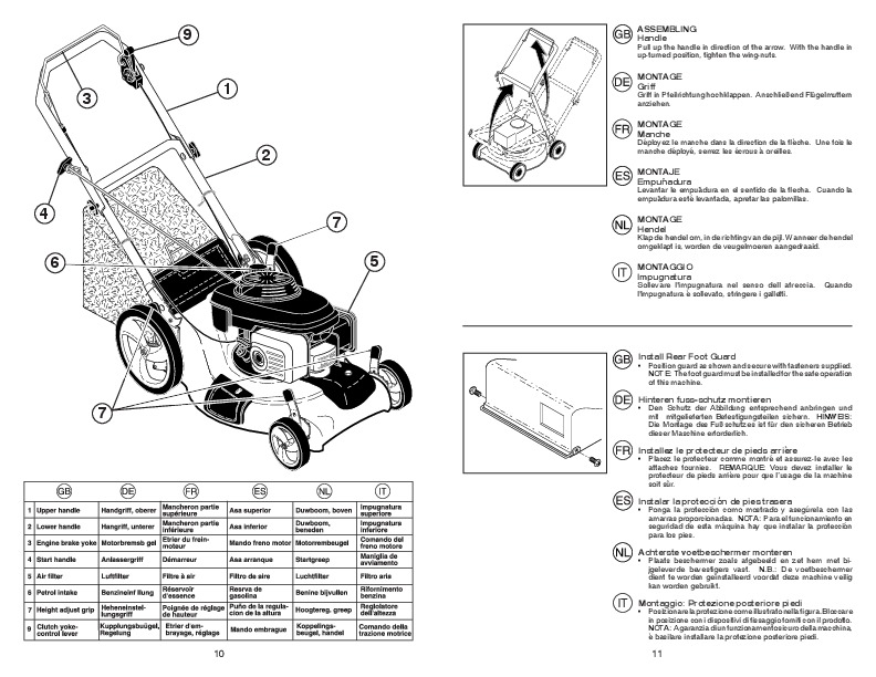 McCulloch M53 160 DW Lawn Mower Owners Manual, 2008