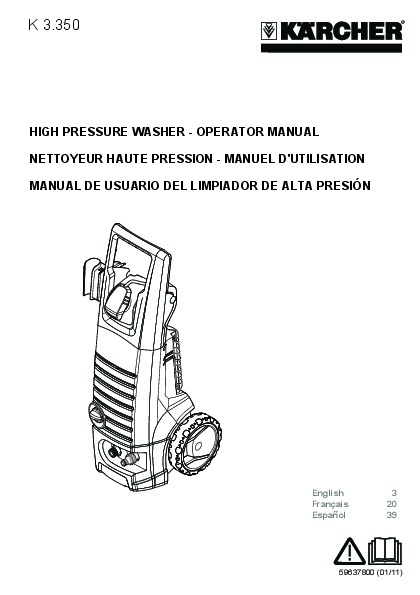 Kärcher K 3.350 Electric Power High Pressure Washer Owners