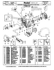 2008 Poulan P3314 WS Chainsaw Parts List