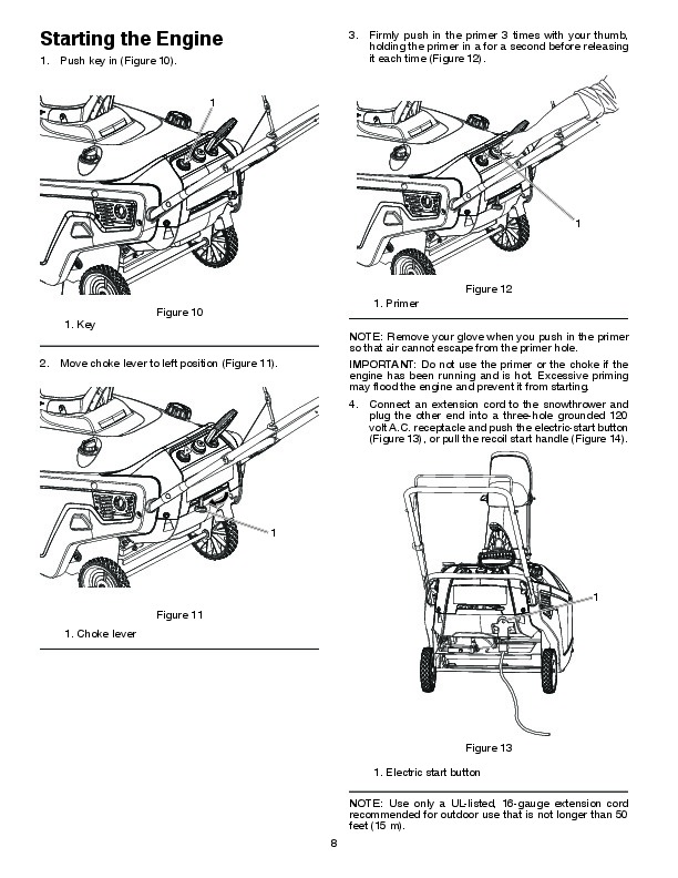 Poulan Pro PR621 436414 Snow Blower Owners Manual, 2010