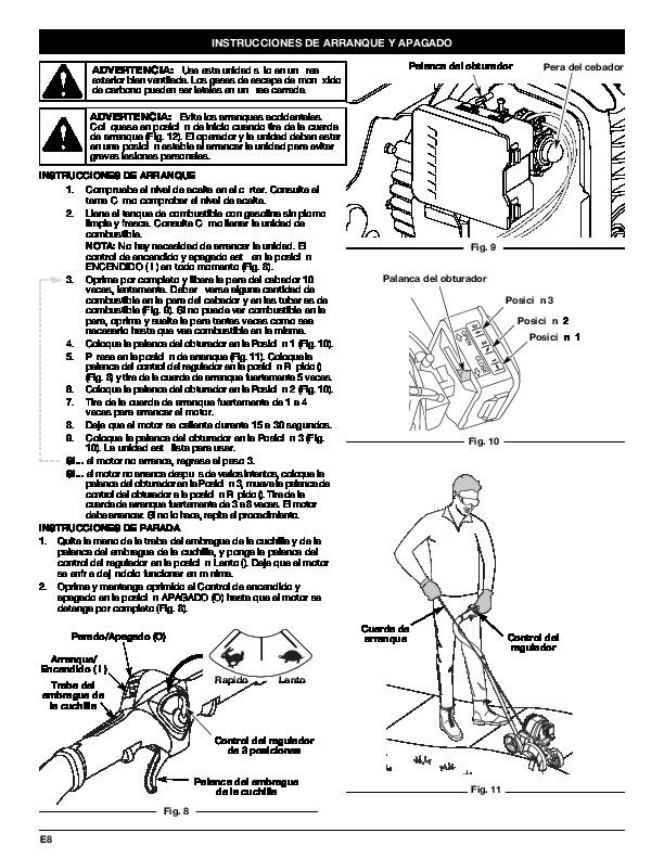 MTD Troy-Bilt TBE515 4 Cycle Lawn Edger Lawn Mower Owners