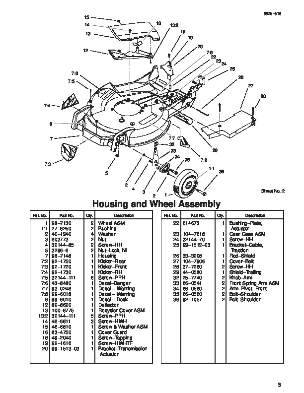 Toro Super Recycler Parts Diagram Toro Wide Deck Push