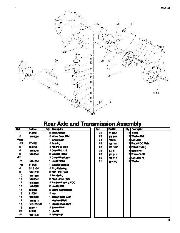 Toro 20041 22-Inch Recycler Lawn Mower Parts Catalog, 2005