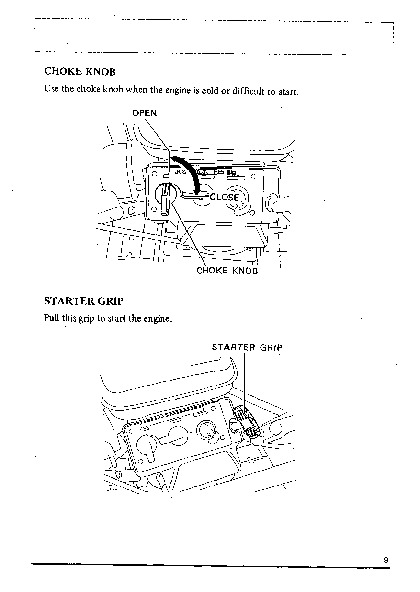 Honda HS50 Snow Blower Owners Manual