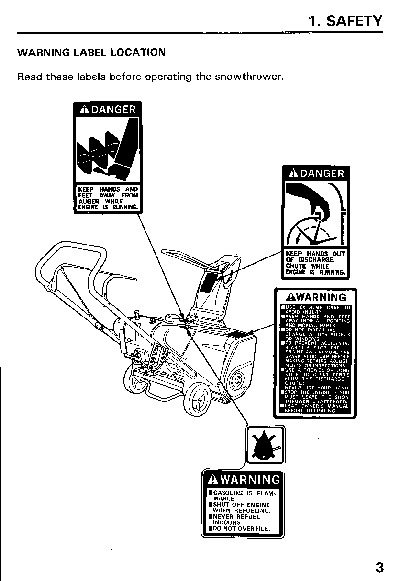 Honda HS521 Snow Blower Owners Manual