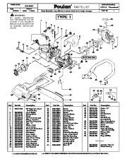 Poulan 1975LE Woodshark Chainsaw Parts List, 2008