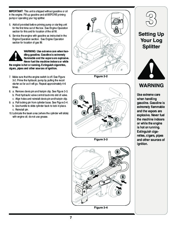 MTD 5DM Series Log Splitter Lawn Mower Owners Manual
