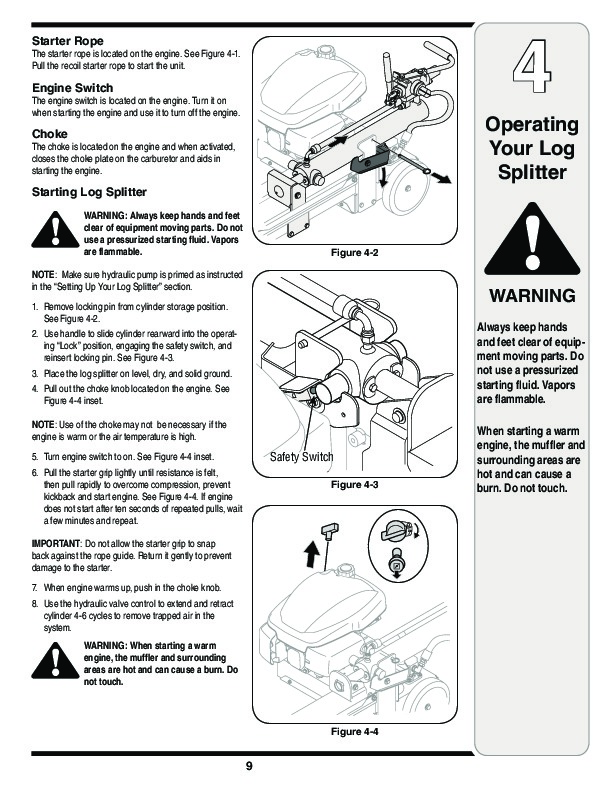 MTD 5DM Series Log Splitter Lawn Mower Owners Manual