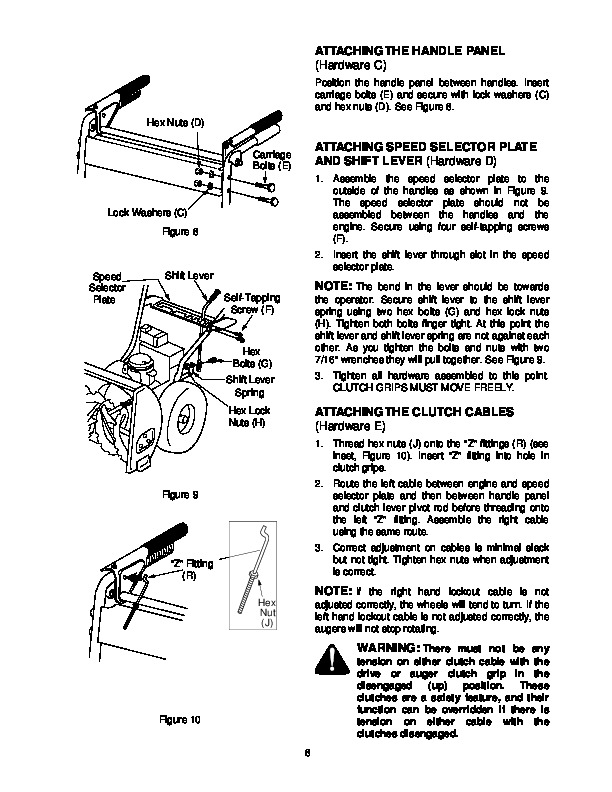 MTD Yard Machines 611 Snow Blower Owners Manual