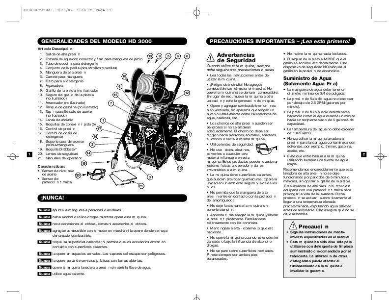 Kärcher HD 3000 DH Q C Gasoline Power High Pressure Washer