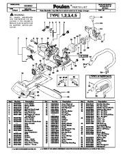 2007 Poulan 2075 2075C 2075OC Chainsaw Parts List
