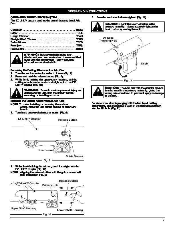 MTD Troy-Bilt TB20DC 2 Cycle Gasoline Trimmer Owners Manual