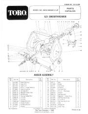 Toro 38052 521 Snowblower Manual, 1984