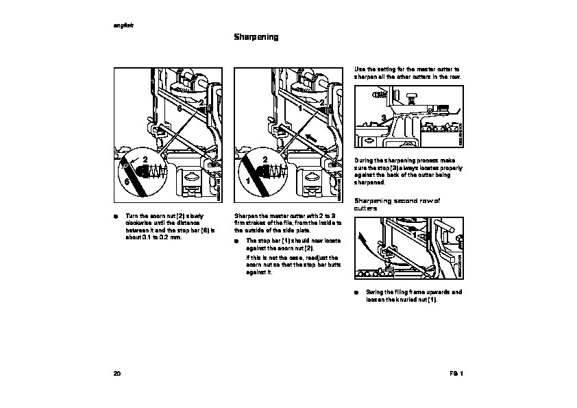STIHL FG1 Chainsaw Filing Unit Owners Manual