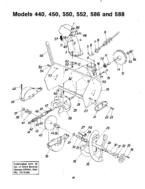 MTD 310-440 450 550 552 586 588 000 Snow Blower Owners