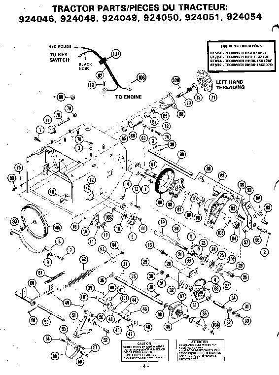 Ariens 824 Snowblower Parts Manual