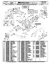 McCulloch Mac Cat 441 Chainsaw Service Parts List