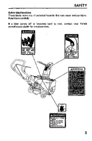 Honda HS621 Snow Blower Owners Manual