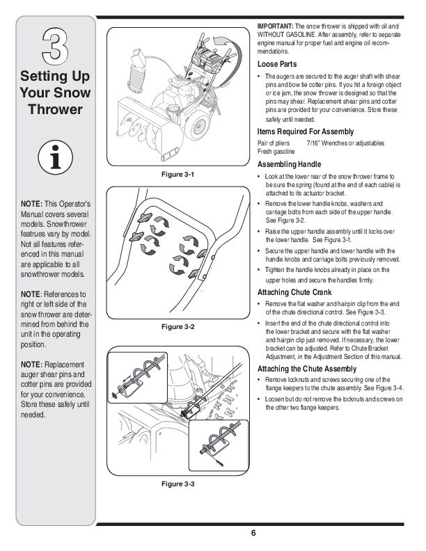 MTD Troy Bilt Snow Blower Owners Manual