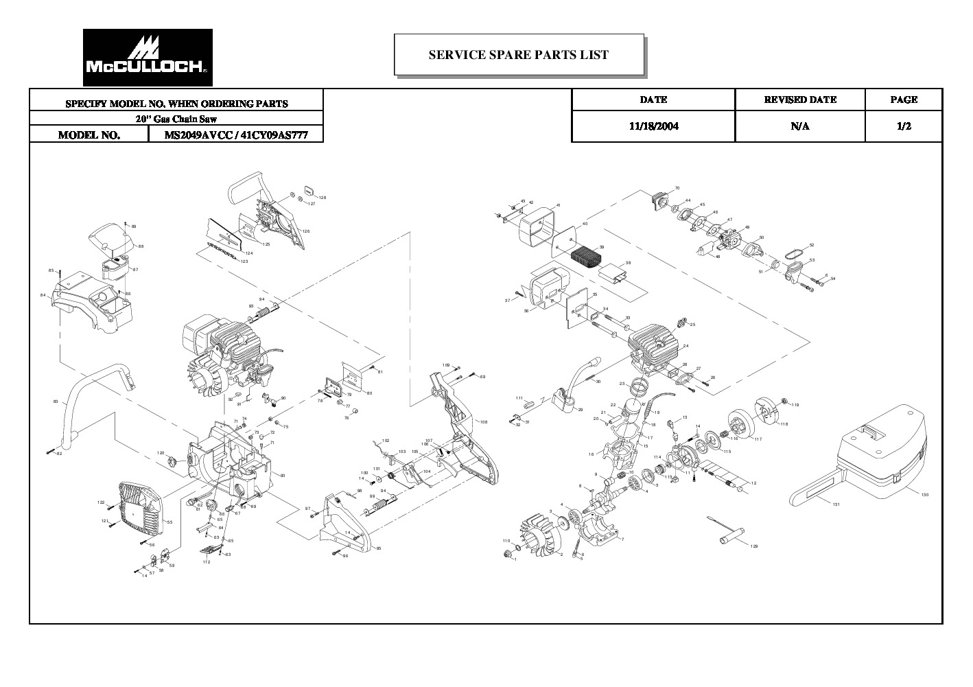 2005 Chevy Avalanche 1500 Parts Manual