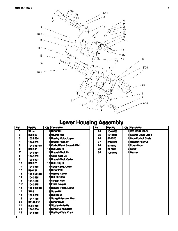 Toro Snow Commander 38603 Snow Blower Parts Manual, 2005