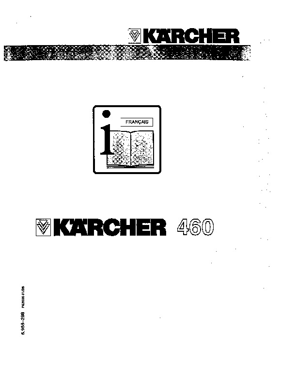Kärcher K 460 Electric Power High Pressure Washer Owners