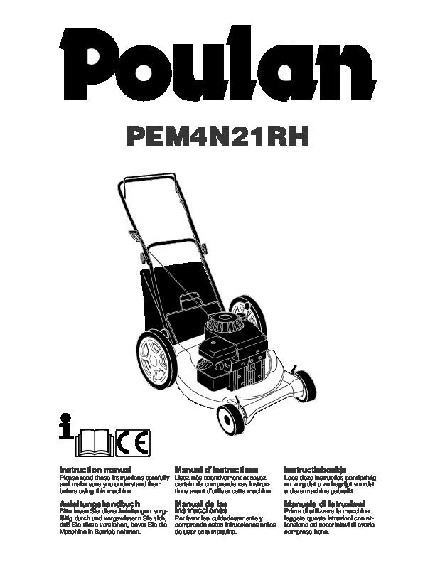 Poulan PEM4N21RH Lawn Mower Owners Manual, 2005