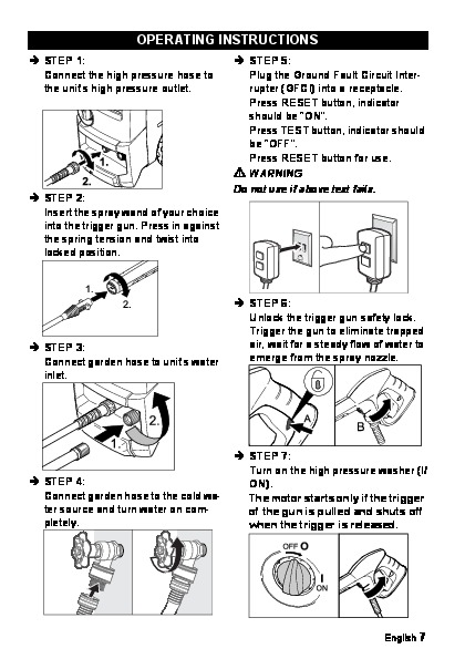 Kärcher K 3.49 M Electric High Pressure Washer Owners Manual