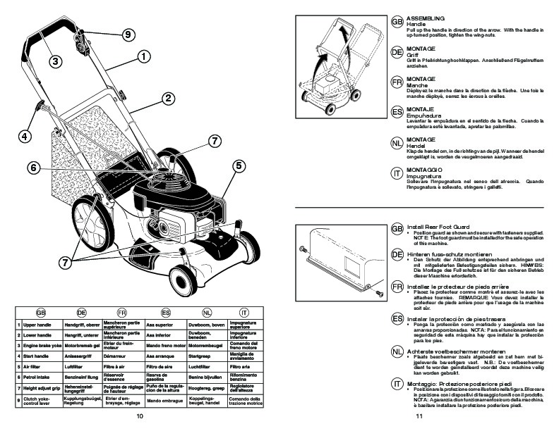 McCulloch EDITION 1 R Lawn Mower Owners Manual, 2008