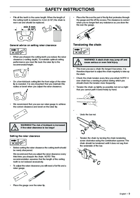 Husqvarna 323P4 325P5 X-Series Chainsaw Owners Manual, 2003