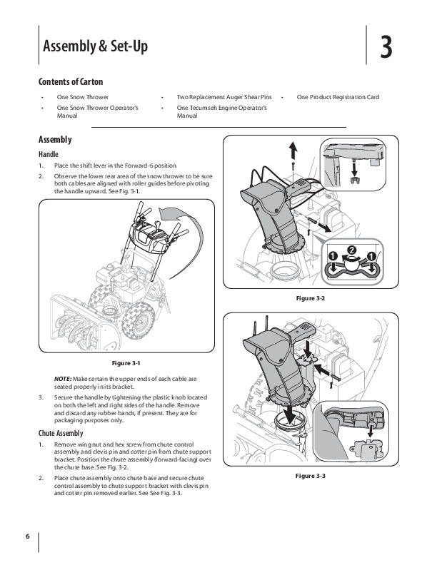 MTD 600 Series L Style Snow Blower Owners Manual