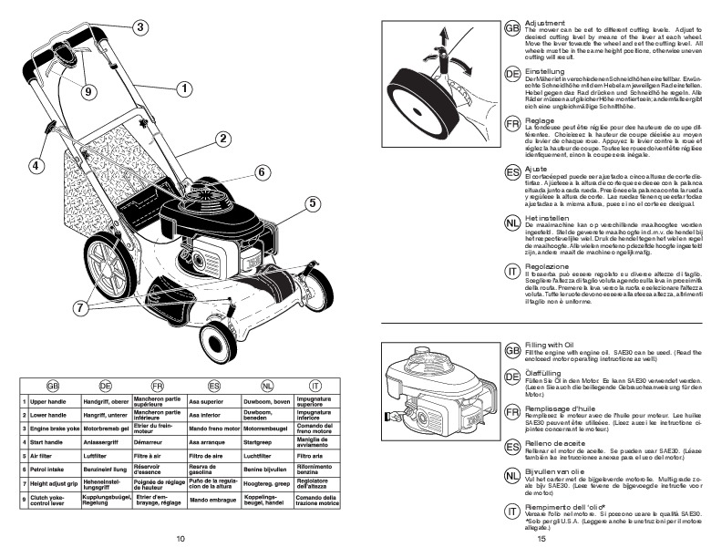 McCulloch EDITION XXL R Lawn Mower Owners Manual, 2010