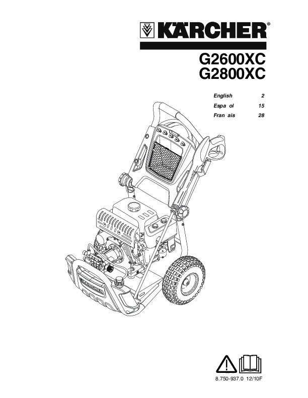 Kärcher G 2600 XC G 2800 XC Gasoline Power High Pressure