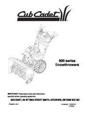 Cub Cadet Snow Blower Manuals