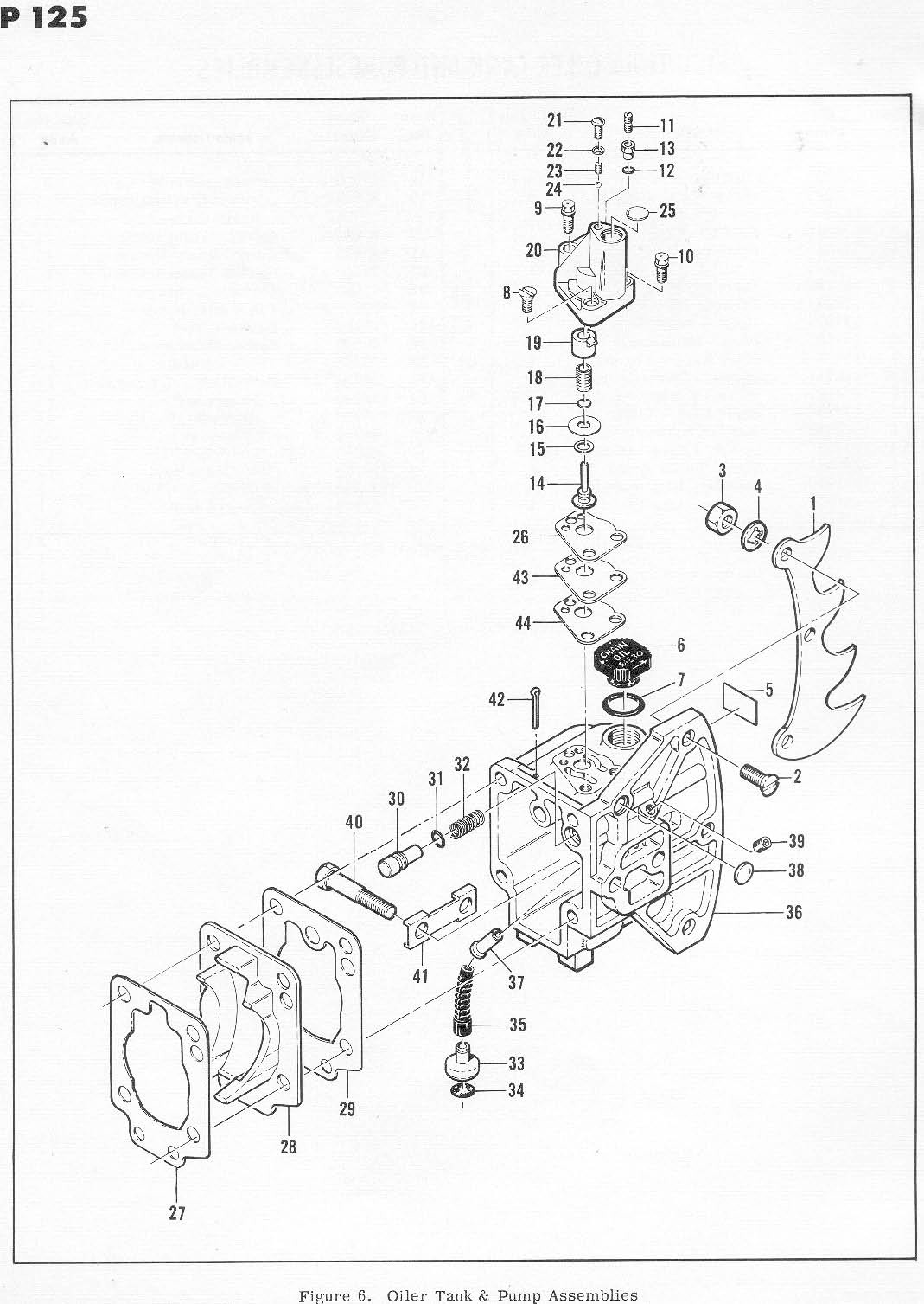 McCulloch SP 125 600076 Chainsaw Parts List, 1971