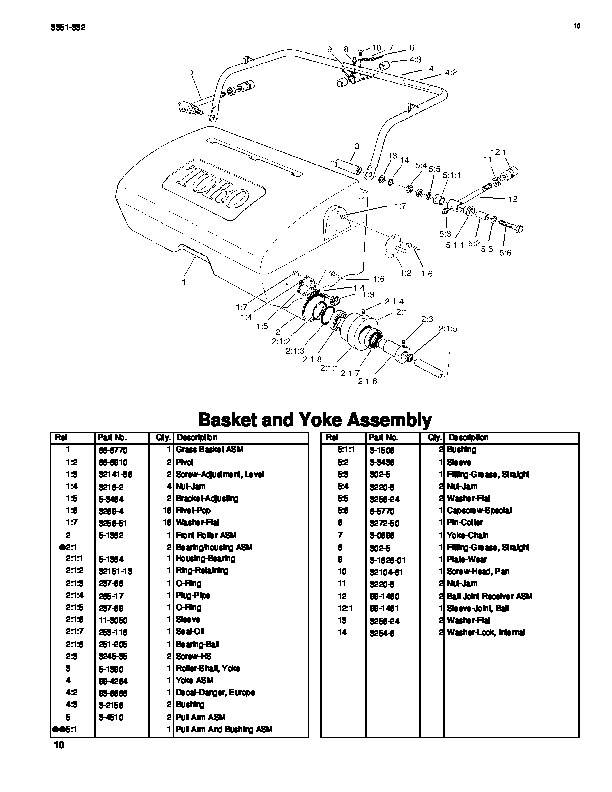 Toro 04130 04215 Greensmaster 500 Lawn Mower Parts Catalog