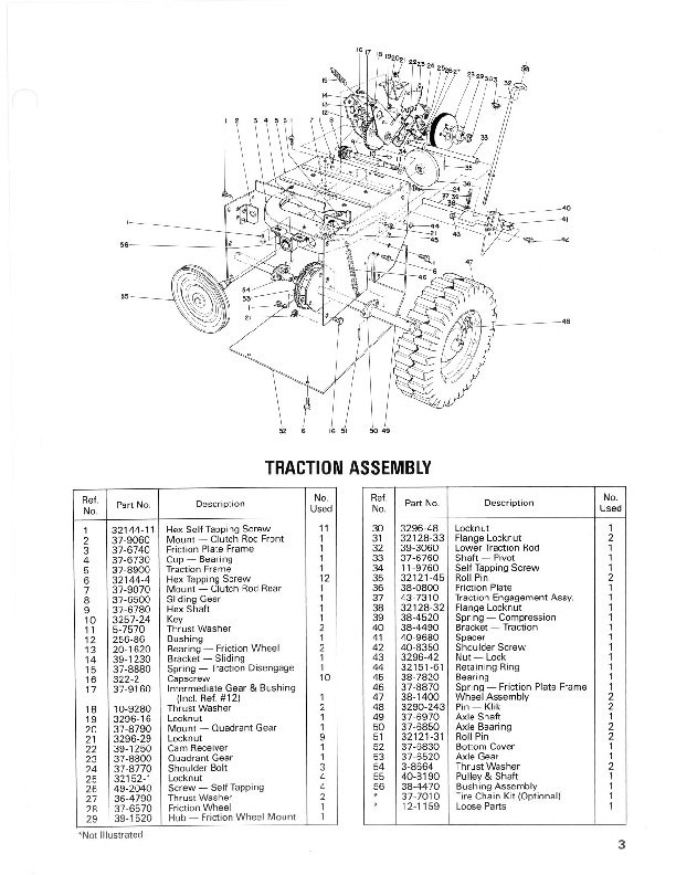 Toro 38035 3521 Snowblower Manual, 1986