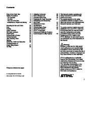 STIHL 009 Chainsaw Owners Manual