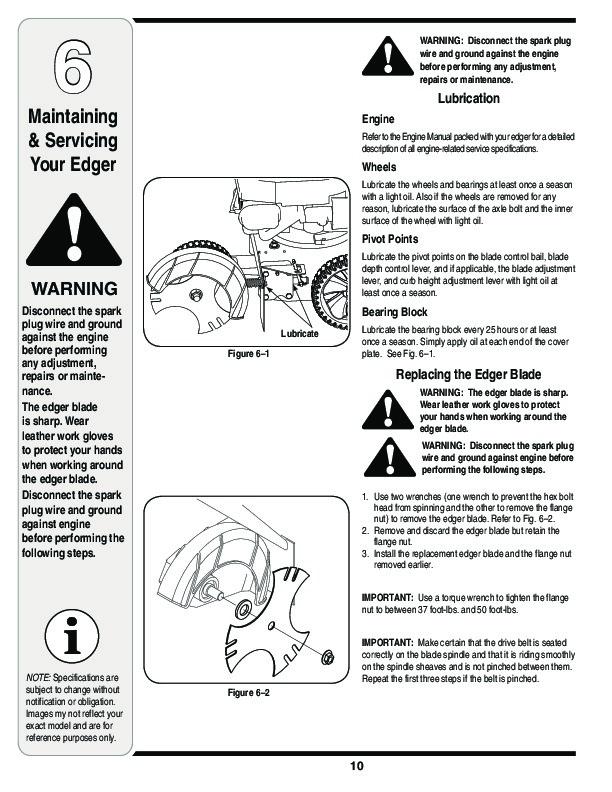 MTD Troy-Bilt 554 Edger Trimmer Lawn Mower Owners Manual