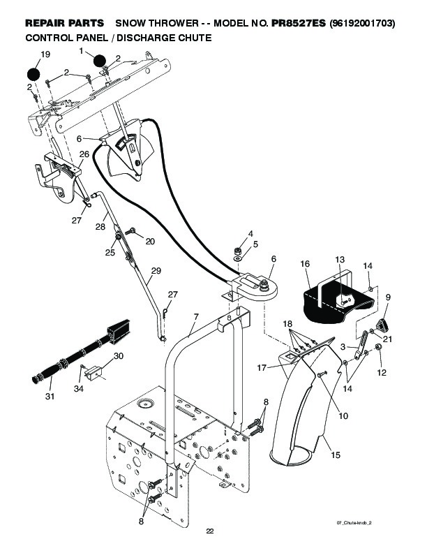 Poulan Pro PR8527ES 419002 Snow Blower Owners Owners