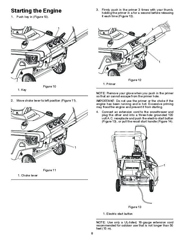 Poulan Pro PR621 436430 Snow Blower Owners Manual, 2010
