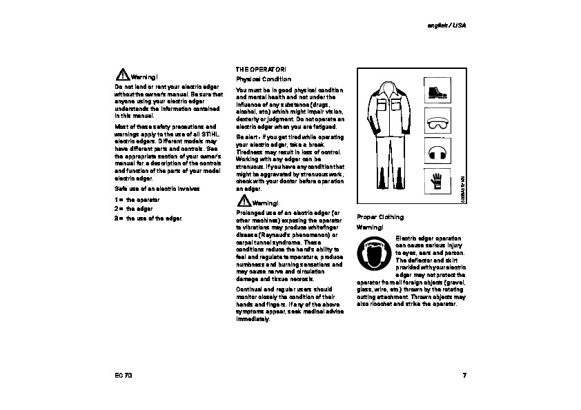 STIHL EC 70 Edger Owners Manual